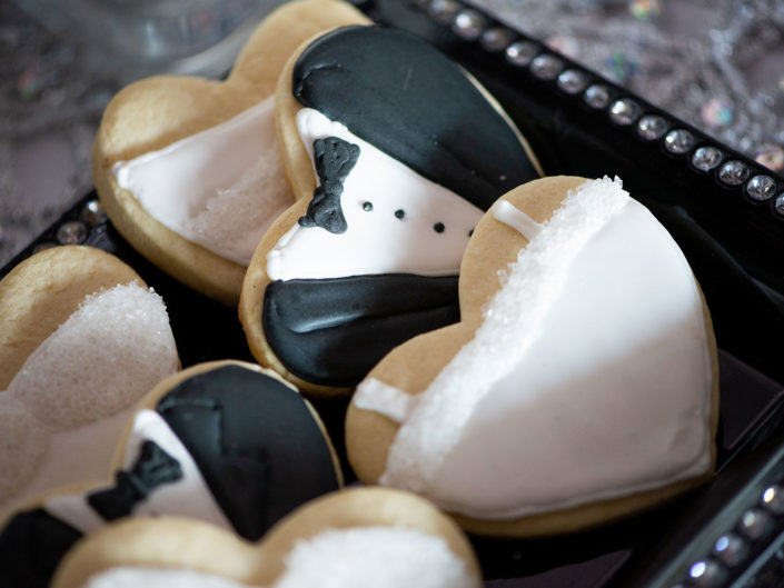 a tray oh heart shaped cookies decorated for a wedding - The Importance of Social Media for Businesses